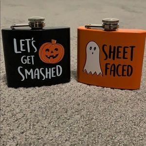 Two Mini Halloween Flasks